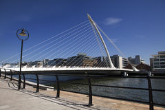 Beckett Bridge In Dublin Stock Photo