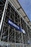 Becketts åskådarläktare på Silverstone Royaltyfri Fotografi