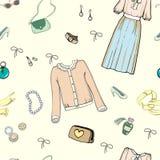Beckground dei vestiti dentro Fotografie Stock