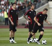 Beckham och Kaka och Sevchenko arkivbilder