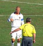 Beckham and Referee Stock Photos