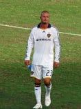 Beckham verlässt das Feld lizenzfreie stockbilder
