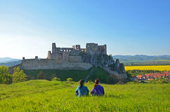 Beckov castle stock photo