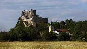 Beckov castle, Slovakia stock image