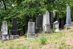 Beckov, Eslovaquia - cementerio judío cerca del castillo de Beckov Foto de archivo libre de regalías
