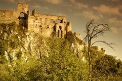 Beckov ruins. Dramatic view on Beckov ruins, slovakia Stock Photo