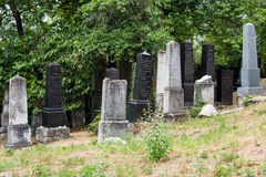 Beckov, Sistani - żydowski cmentarz blisko Beckov kasztelu Zdjęcie Royalty Free