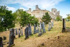 Beckov, Slovakia - jewish cemetery near Beckov castle Royalty Free Stock Photos
