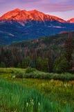 Beckwith Halny wschód słońca W Kolorado Obraz Royalty Free