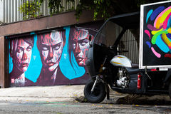 Beco do Batman. Sao Paulo, Brazil - July 5. Beco do Batman (English: Batman's Alley) is the nickname for the area around Rua Gonçalo Afonso and Rua Medeiros
