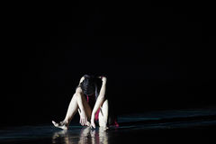 Become dejected and despondent-Modern dance Stock Photo