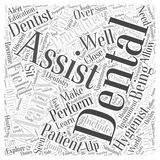 Become a Dental Assistant to Explore the World of Dentistry word cloud concept  background Royalty Free Stock Images