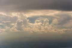 Become dull sky with clouds. Cloudscape Stock Images