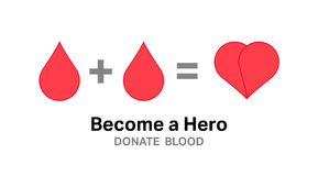 Become a hero donate blood vector Stock Images