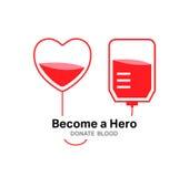 Become a hero donate blood vector Stock Photos