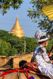 Become a novice on horse ,  Bagan in Myanmar (Burmar) Royalty Free Stock Photography