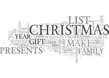 Become Organized This Christmas Word Cloud Stock Photos