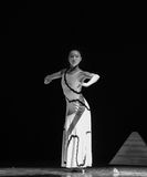 Become silent-Errand into the maze-Modern dance-choreographer Martha Graham. In December 19, 2014, Shi Feifei the dancer dance work session held in the South Royalty Free Stock Photo