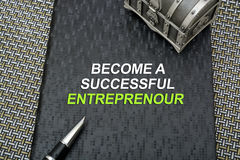 Become a successful entrepreneur book cover Stock Photo