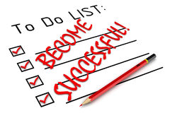 Become successful! To do list Royalty Free Stock Photo