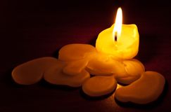 The become swollen candle Royalty Free Stock Image
