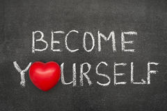 Become yourself chb Royalty Free Stock Photos