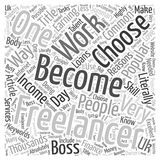 Becoming A Freelancer word cloud concept  background. Text Stock Photos