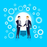Becoming partners, united by the idea. Vector illustration Stock Image