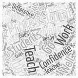 Becoming a Truly Professional Teacher word cloud concept vector background. Text Royalty Free Stock Photography