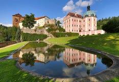 Becov城堡在波希米亚 库存照片