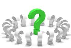 Bector Fragenikone auf schwarzer Taste Abbildung 3D Lizenzfreies Stockfoto