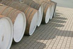 beczki rządu drewnianego whisky. Obraz Stock