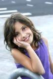 bedårande flickapreteen Arkivfoton