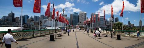 bedårande hamnpanorama Fotografering för Bildbyråer