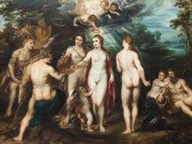 Bedömningen av Paris som målar vid Peter Paul Rubens royaltyfria bilder