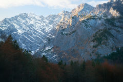 Bedöva berg i nationalparken Berchtesgaden royaltyfria foton