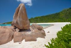 Bedöva den Anse Cocosstranden Arkivbilder