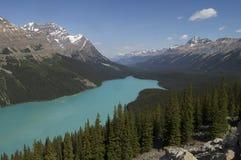 Bedöva den blåa sjön Arkivfoton