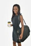 Bedöva den unga afrikansk amerikanaffärskvinnan Royaltyfri Foto