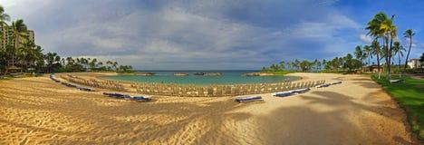 bedöva för semesterort för hawaii koolina panorama- arkivfoton