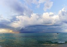 Bedöva havssikt i Grekland arkivbild
