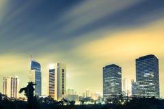 Bedöva Jakarta, huvudstaden av Indonesien Arkivbild