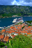 Bedöva Kotor stadsikt, Montenegro Arkivfoto