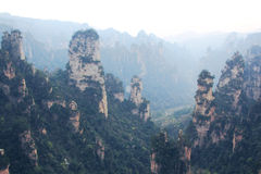 Bedöva liggande, Zhangjiajie Kina Arkivbilder
