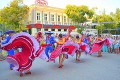 Bedöva mexicansk dans Arkivfoton