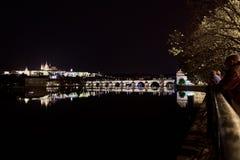 Bedöva nattsikten av staden Royaltyfria Bilder