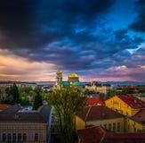 Bedöva sikt över Alexander Nevsky Cathedral i Sofia Bulgaria royaltyfri foto