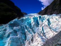 Bedöva sikt av Franz Josef Glacier, södra ö, Nya Zeeland royaltyfri bild