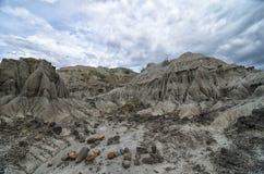 Bedöva sikt till sandstenbildande i Tatacoa desertera Arkivbilder
