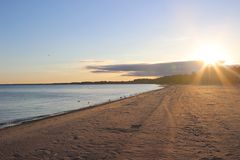 Bedöva sikter av Lake Erie: Port Stanley Ontario Canada: Arkivfoton